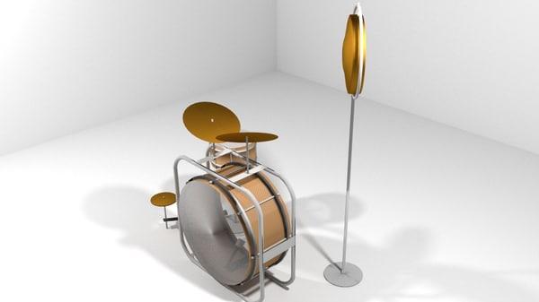 drum set 3D model