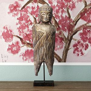 3D buddha albesia wood