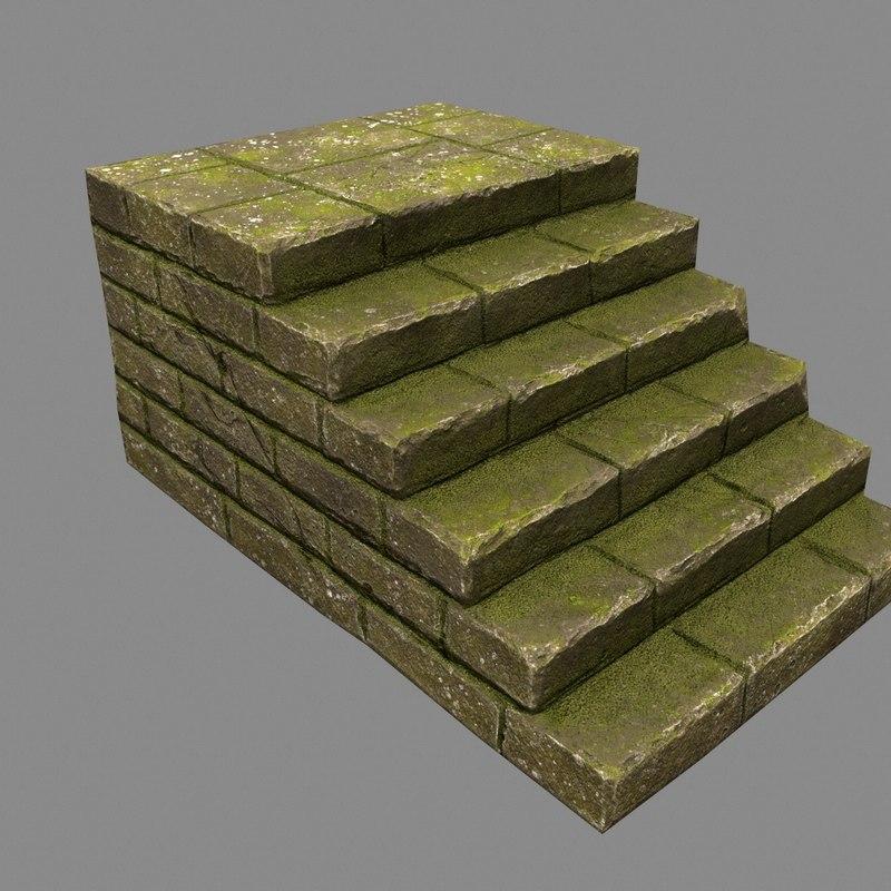 3D model stairway