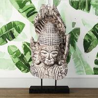 buddha albesia wood 3D