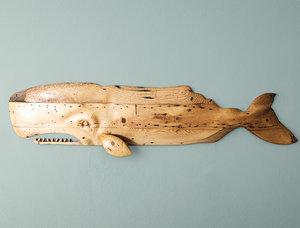 whale decoration sunny 3D model