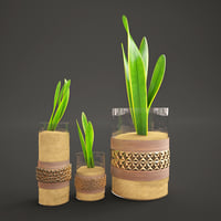 3D decorative glass model