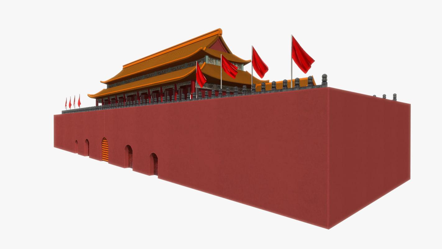 ancient china palace 3D model