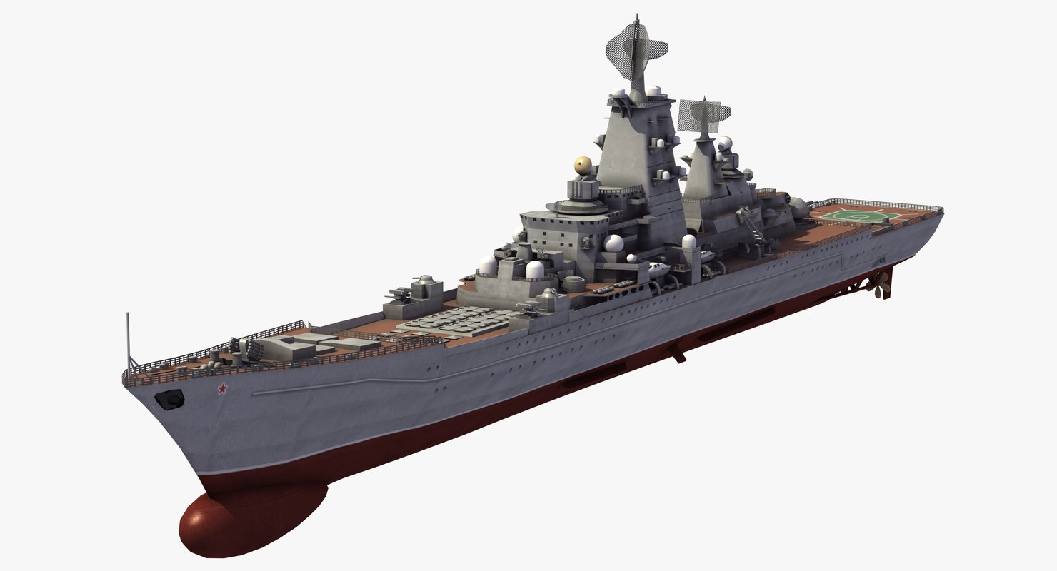 pyotr velikiy missile cruiser 3D model