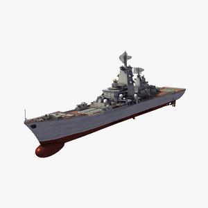 kirov class missile cruiser 3D