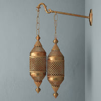 moroccan double lantern sconce 3D