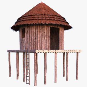 african cottage 3D model