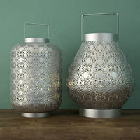 silver lace lanterns 3D model