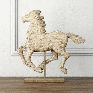 3D model tan horse