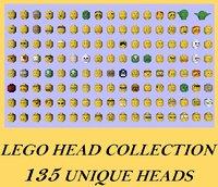 lego 135 head 3D model