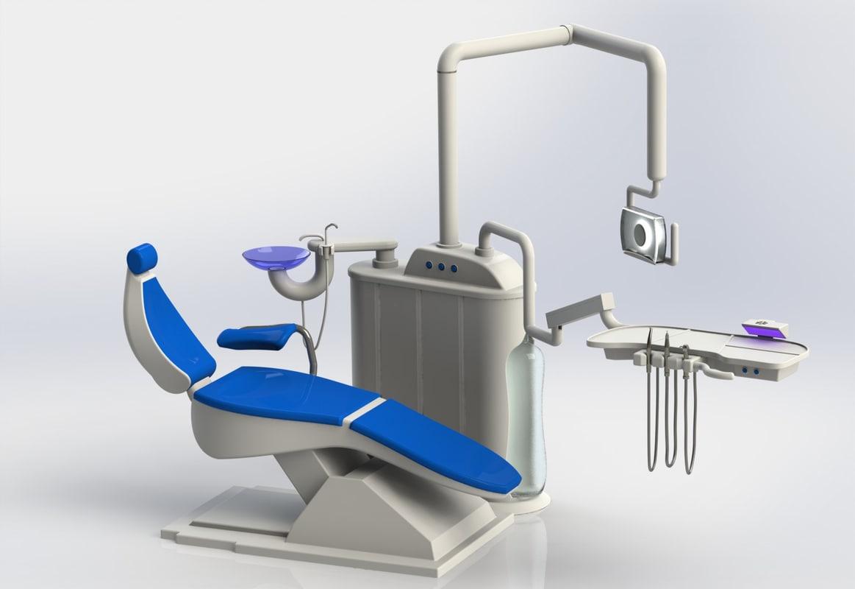3D dental equipment chair