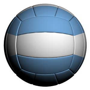 volleyball ball 3D model