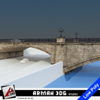 bridge road stone 3D model