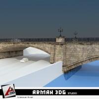 bridge road stone 3D model