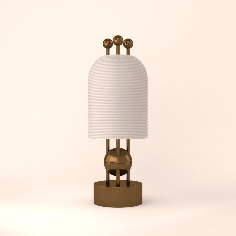 Apparatus Lantern Table Lamp 3D