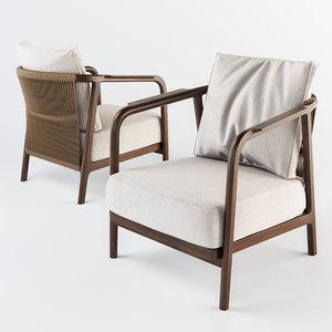 3D model flexform crono armchair
