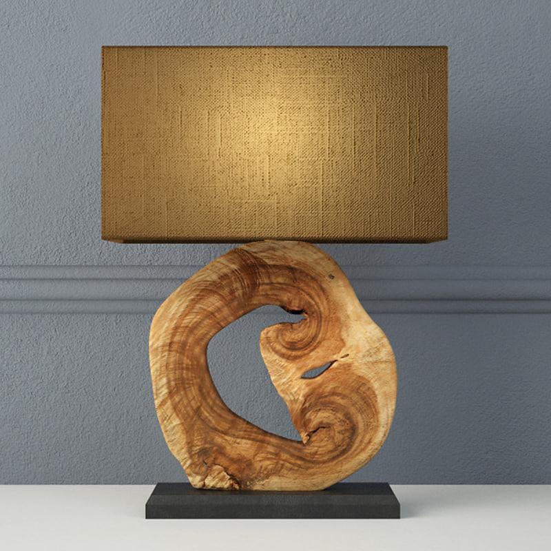 acacia table lamp jamie 3D model