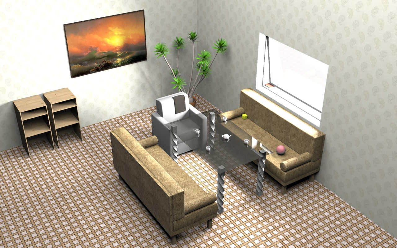 room sofas armchair 3D model