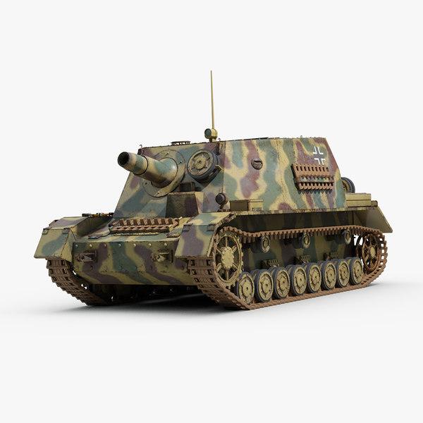 ww2 german sturmpanzer 3D model