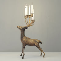oversize brass deer candle holder 3D model