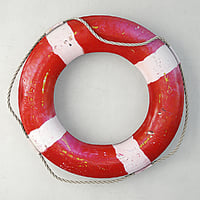 3D 1950s nautical life preserver model