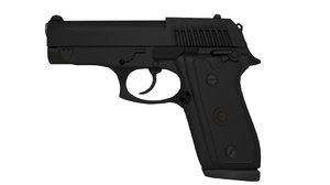 pistol taurus 3D model