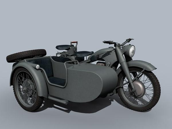 3D model german wwii moto