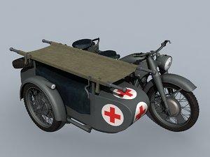 3D german wwii moto