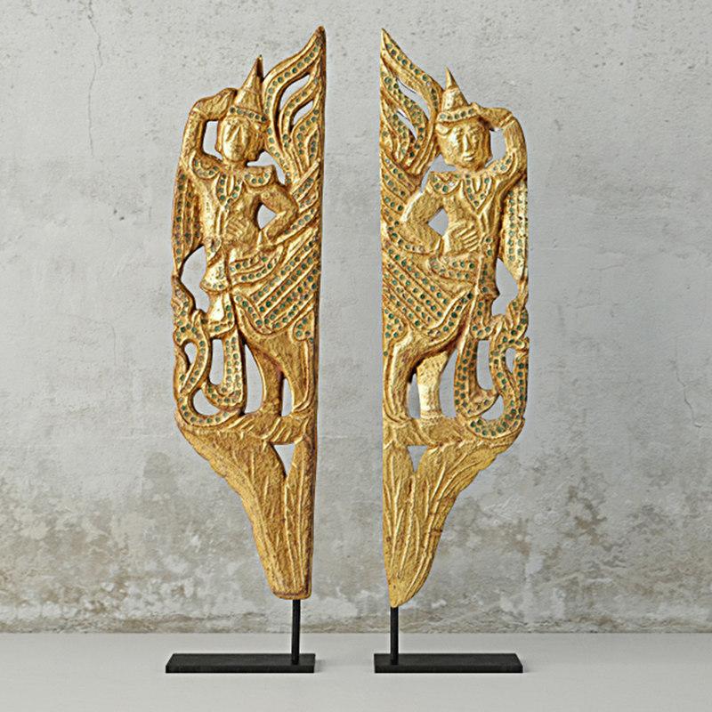 pair burmese mandalay gilded 3D model