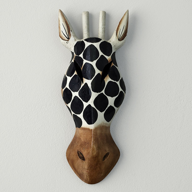 balinese dotted giraffe mask 3D model