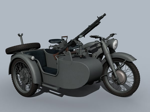 3D german wwii moto model