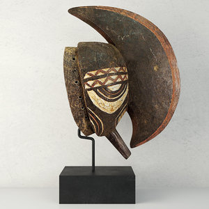 3D bobo mohawk mask headcrest
