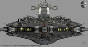 3D model victory imperial star frigate