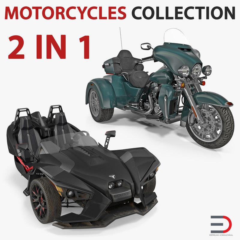 3D trike motorcycles model