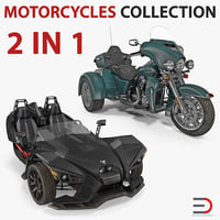 Trike Motorcycles 3D Models Collection