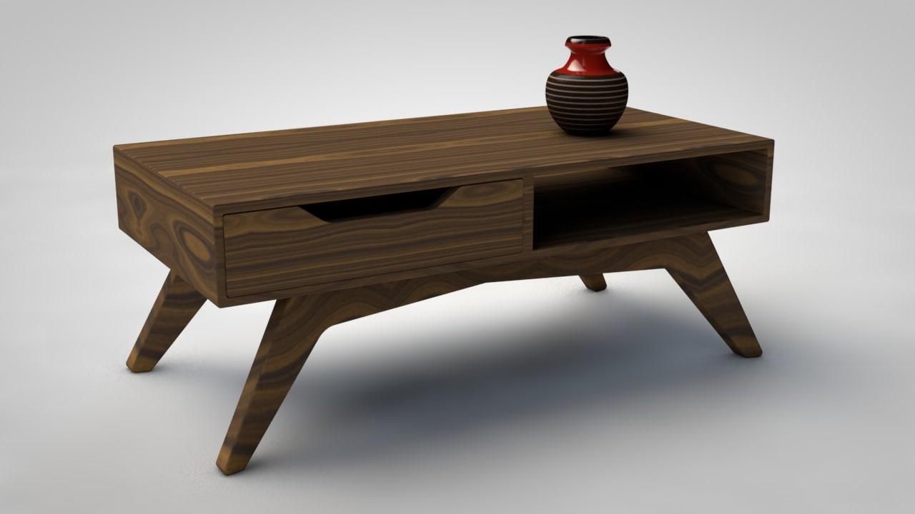mid-century modern coffee table 3D model
