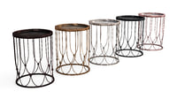 Metallic Side Table Collection - Antique Look