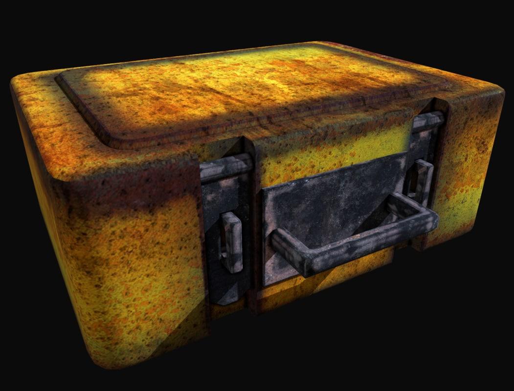 rusty old metal box model