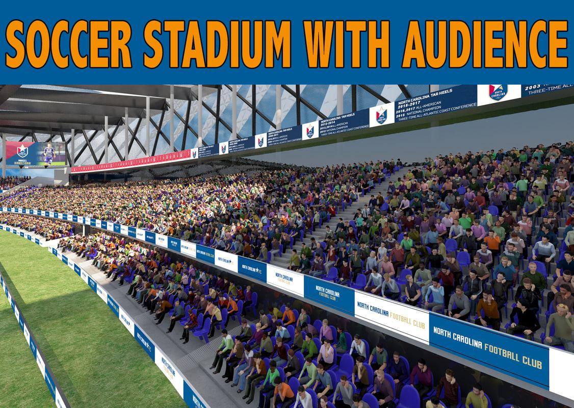 3D stadium audience soccer model
