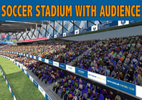 3D stadium audience soccer model