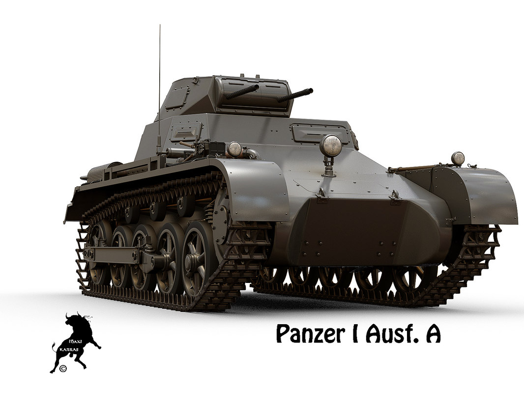 3D panzer tank model