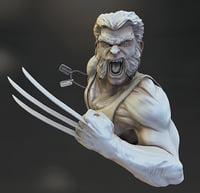 wolverine bust comics 3D model