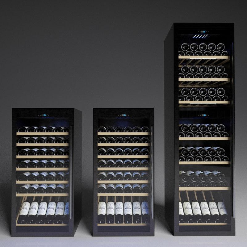 3D wine refrigerator model