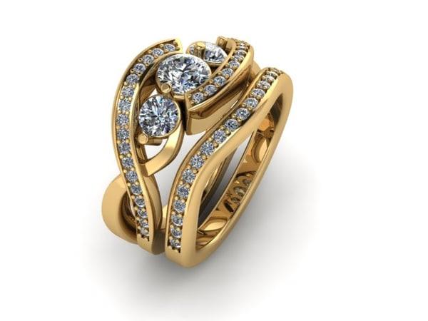 3D wedding ring matching