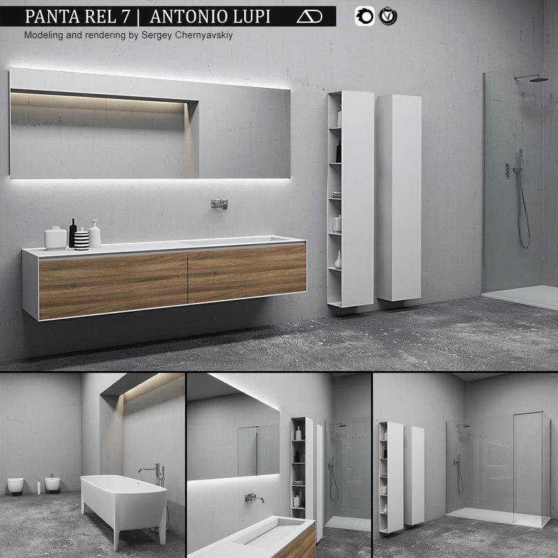 bathroom furniture set panta model