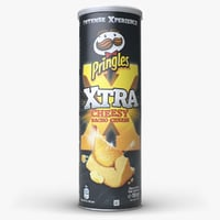 3D model pringles chips cheesy nacho