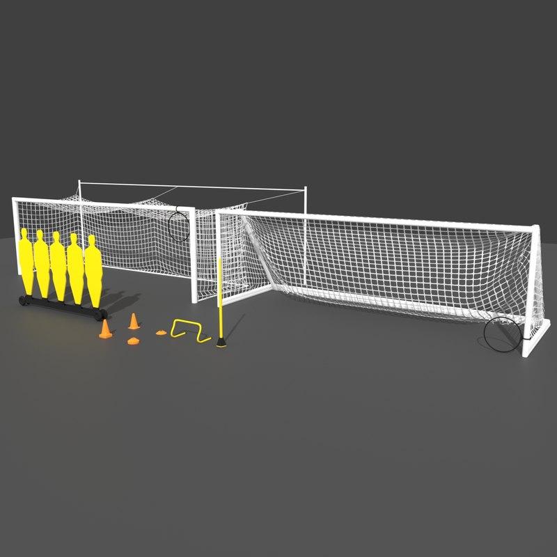 goals cones long 3D model