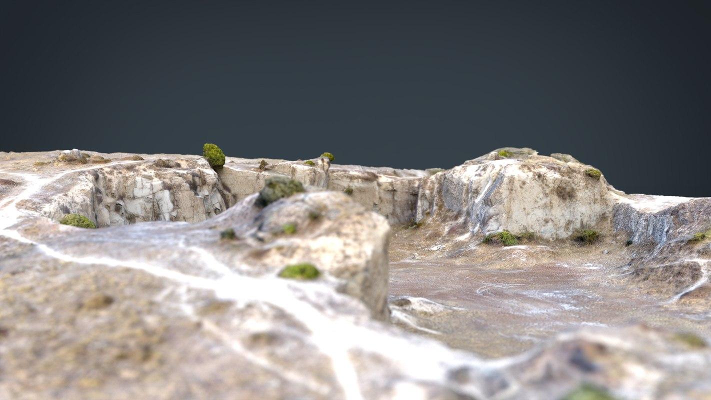 realistic quarry 3D model