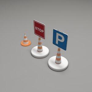 3D traffic sign model