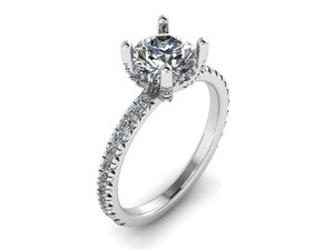 solitaire ring model